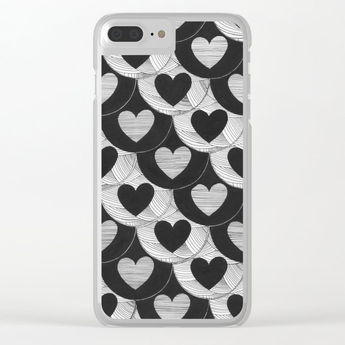 corazones Clear iPhone Case