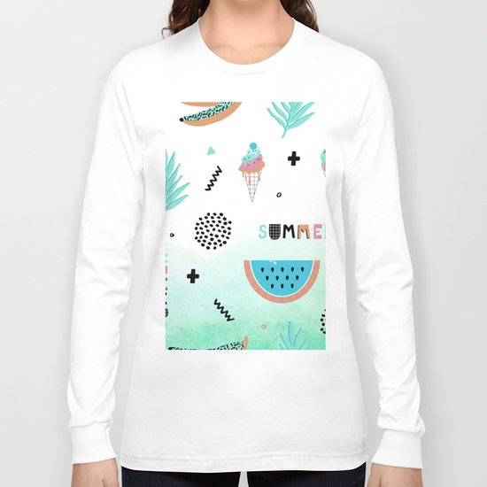 Memphis summer Long Sleeve T-shirt