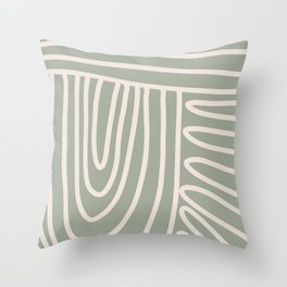 Pathways in Sage  Throw Pillow