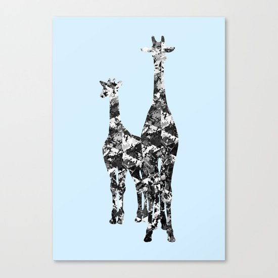 Patchwork Giraffes  Canvas Print