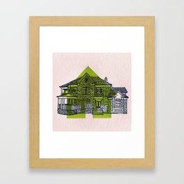 Letterpress Houses 1 Framed Art Print