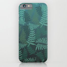 Fern leaves green turquoise pattern #society6 iPhone Case