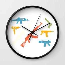 Automatic Rifles Wall Clock