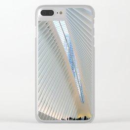 World Trade Center Transportation Hub Clear iPhone Case