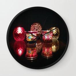Kaleidoscope of Diwali Lights glowing in the dark Wall Clock