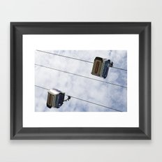 Emirates Cable Car London Framed Art Print
