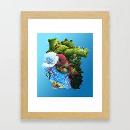 Active Heart Framed Art Print
