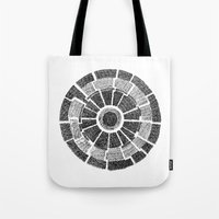 planet Tote Bags featuring planet by mishart