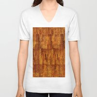 buildings V-neck T-shirts featuring Buildings by GLR67