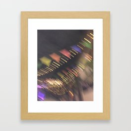 Lights and Pennants Framed Art Print