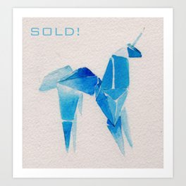 Sold! Thank you! Art Print