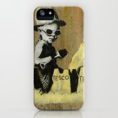 Banksy on the beach iPhone (5, 5s) Slim Case