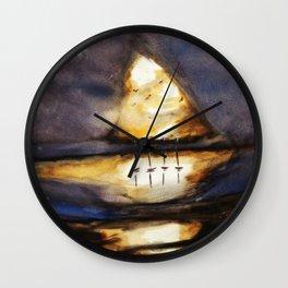 Bright Dark Wall Clock