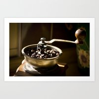coffe Art Prints featuring Coffe Grinder by Maria Moreno