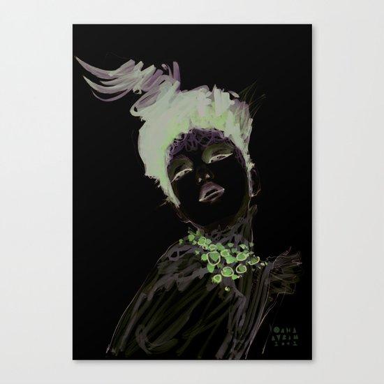 Purple dramatic fashion illustration Canvas Print