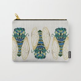 Green & Gold Cicada Carry-All Pouch