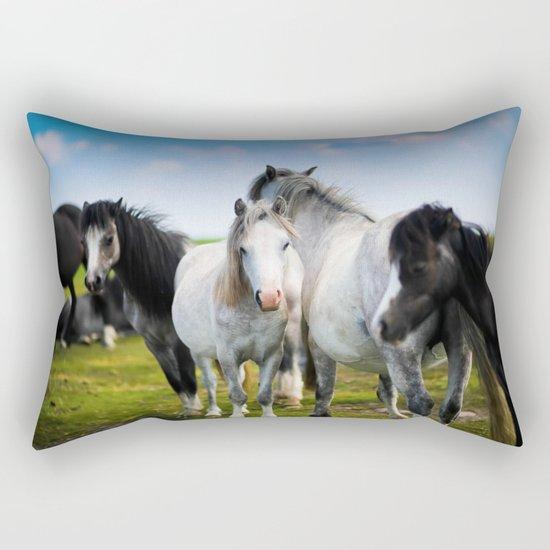 Horses Horses 4 Rectangular Pillow