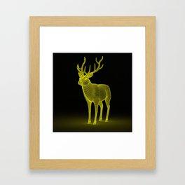 numeric deer 4 Framed Art Print