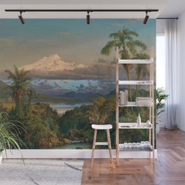 Volcán Cayambe, Ecuador Landscape Painting by Frederic Edwin Church Wall Mural