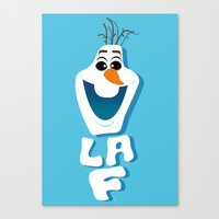 olaf Canvas Prints featuring OLAF by Matteo Gaggia Bomber-art