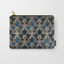 Abstract Leaves Pattern (copper& prussian blue) Carry-All Pouch