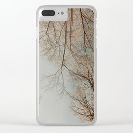 The Trees - Crisp Fall Clear iPhone Case