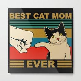 Cat Cat Mom Vintage Faust Metal Print