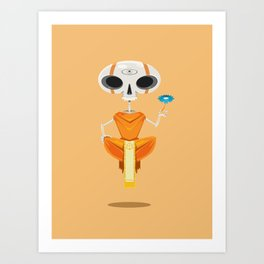 Skeleton Monk Art Print