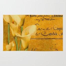 Vintage calla lilies Rug