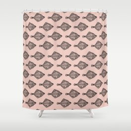 Pink flatfish pattern Shower Curtain