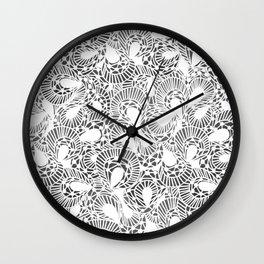 Pretty White Lace Design Wall Clock
