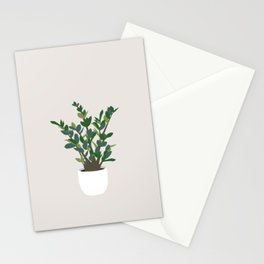 Minimal Art - Indoor Plant, ZZ Plant Stationery Cards