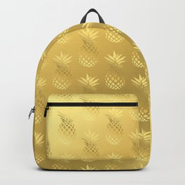 Elegant faux gold pineapple pattern Backpack