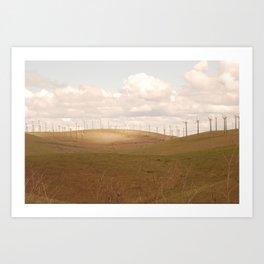 Turbines At Altamont Art Print