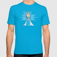The Ice Queen Mens Fitted Tee Teal LARGE