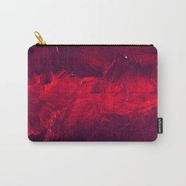 Modern Art - Dark Red Throw Pillow - Jeff Koons Inspired - Postmodernism - Corbin Henry Carry-All Pouch