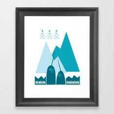 Heart the Narwhal Framed Art Print