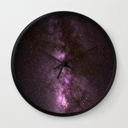 Maroon Milky Way Wall Clock