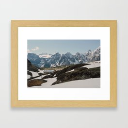 Ten Peaks Framed Art Print