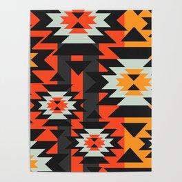 Aztec geometry Poster