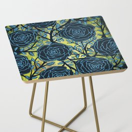 Black and Blue Side Table