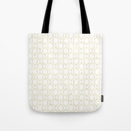 White And Gold Moroccan Chic Pattern Tote Bag