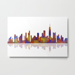 Chicago, Illinois Skyline 2 Metal Print