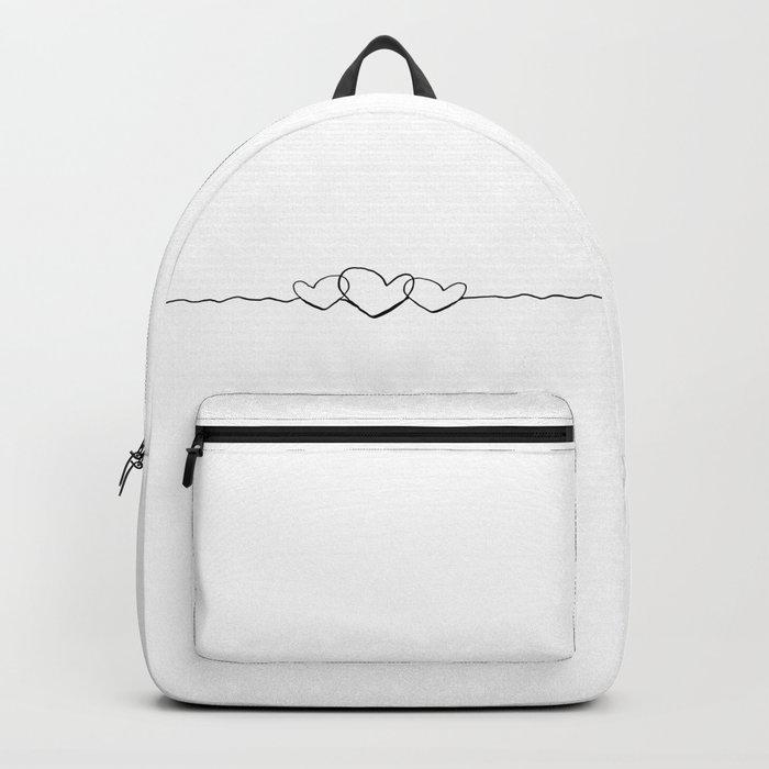 3 hearts line Backpack
