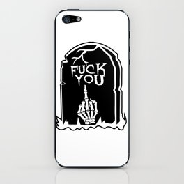 Mean Grave iPhone Skin