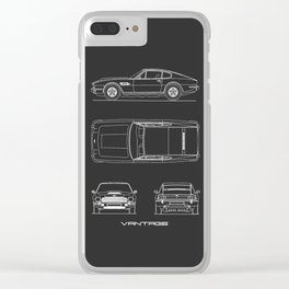 The V8 Vantage Blueprint Clear iPhone Case