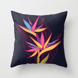Strelitzia Flowers Throw Pillow