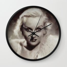 Carole Lombard, Vintage Actress Wall Clock