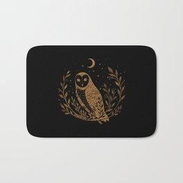 Owl Moon - Gold Bath Mat