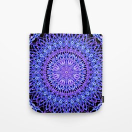 Beads of Light Mandala Tote Bag